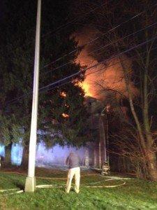 Mill Creek house fire. Photo by Mark Gimbl.